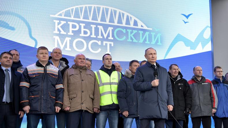 Putin: Ab Juli startet regelmäßiger Schienengüterverkehr über Krim-Brücke