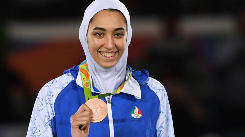Irans einzige Olympia-Medaillengewinnerin flieht aus der Heimat