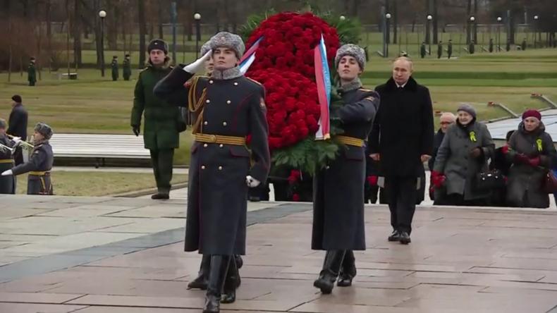 Putin gedenkt am 77. Jahrestag des Endes der Blockade von Leningrad