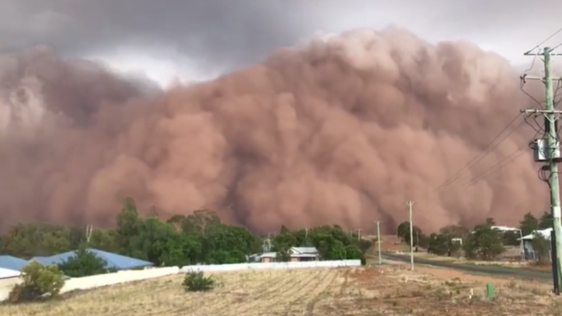 Australien: Massiver Sandsturm fegt über New South Wales hinweg
