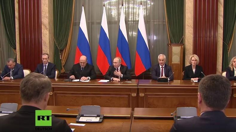 LIVE: Russlands Premierminister Mischustin und Putin halten Sitzung im Weißen Haus in Moskau ab