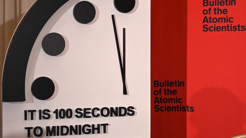 100 Sekunden: Weltuntergangsuhr so nah an Mitternacht wie noch nie