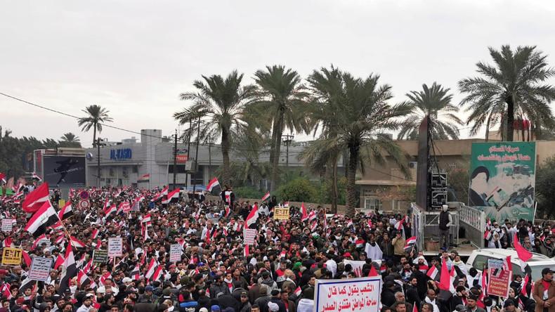 """Bagdad – """"Millionenmarsch"""" gegen US-Präsenz im Irak"""