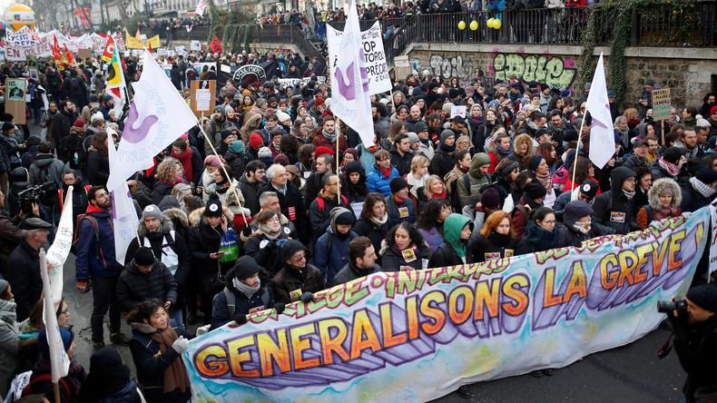 LIVE: Paris – Erneute Proteste und Streik gegen Macrons Rentenreformpläne