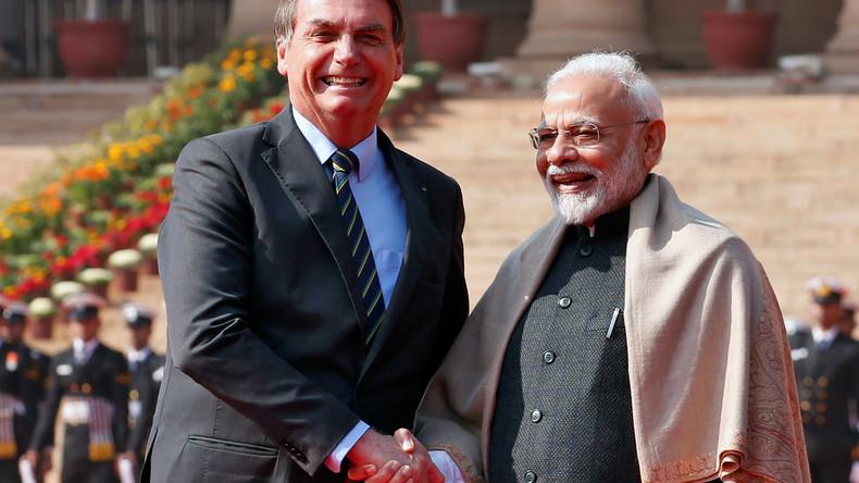 Bolsonaro in Indien: Neu-Delhi und Brasília unterzeichnen ein Dutzend Handelsverträge