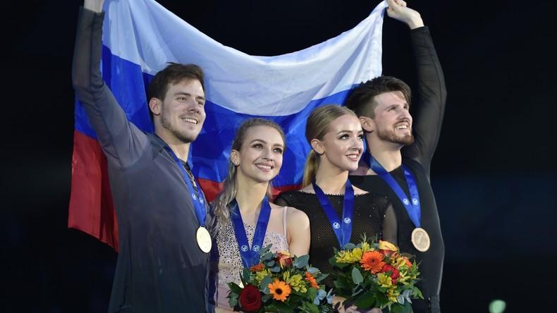 Erstmals seit 14 Jahren: Russland holt alle Goldmedaillen bei Eiskunstlauf-EM in Graz