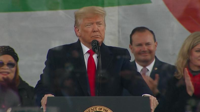 Trump besucht als erster US-Präsident Abtreibungsgegner-Marsch: Werde ungeborenes Leben verteidigen!