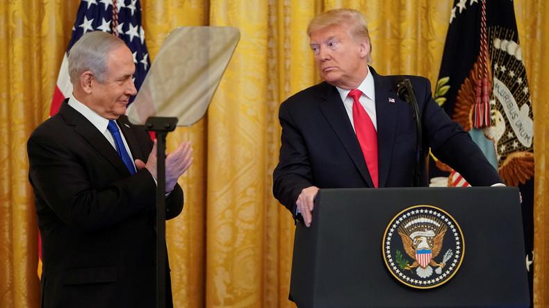 """Trumps Nahost-Friedensplan: Zweistaatenlösung mit """"demilitarisiertem Palästinenserstaat"""""""