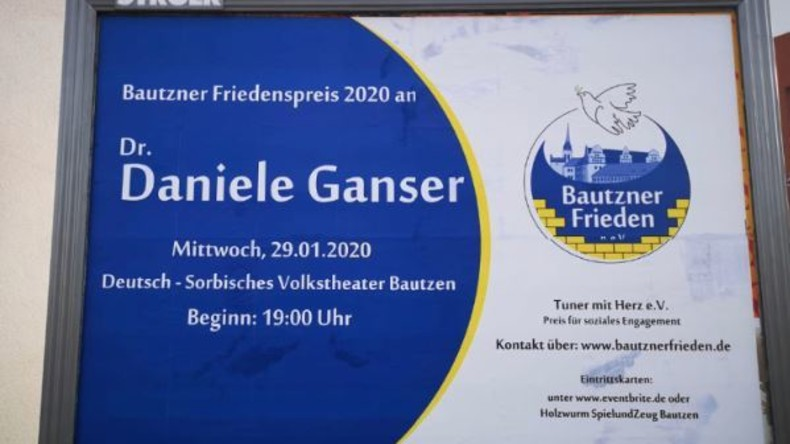 Daniele Ganser erhält Bautzner Friedenspreis – Eklat im Stadtrat