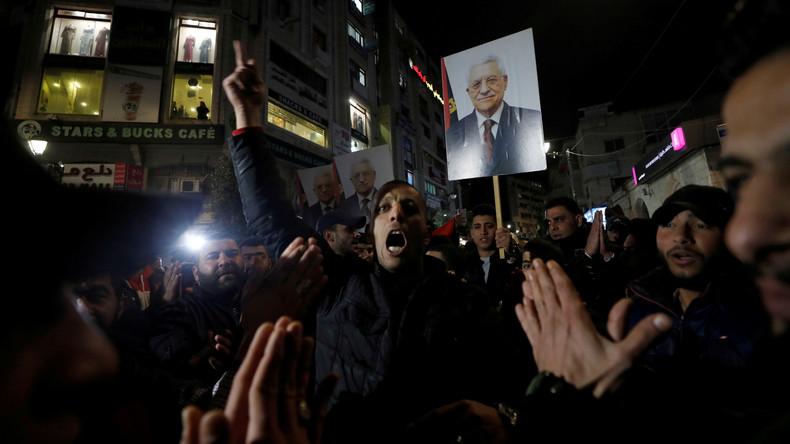 "LIVE: Ramallah – Palästinenser protestieren gegen Trumps ""Deal des Jahrhunderts"""