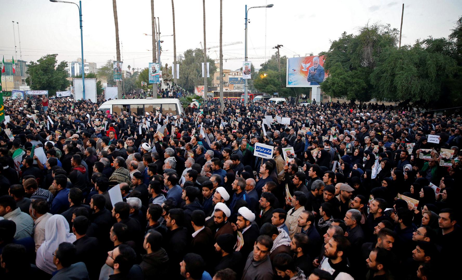 Iran: Hunderttausende beim Trauerzug für ermordeten General Soleimani in Ahvaz