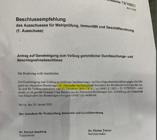 Bundestag hebt Immunität von AfD-Fraktionschef Alexander Gauland auf