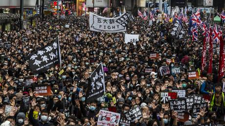 Die Proteste gegen die Regierung in Hongkong gingen auch am 1. Januar 2020 weiter.