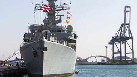 Das britische Kriegsschiff