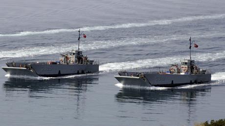 Archivbild: Türkische Marinebooten im Mittelmeer.