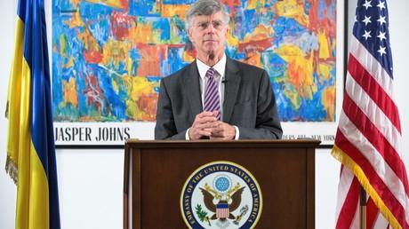 Der vorübergehend Bevollmächtigte für US-Angelegenheiten in der Ukraine William Taylor während eines Briefings in der ukrainischen Hauptstadt Kiew, Juni 2019