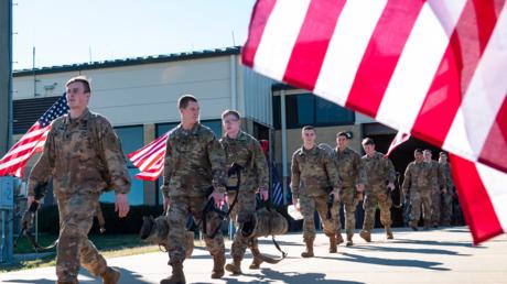 Mitglieder einer Terrororganisation? US-Soldaten in North Carolina vor ihrer Verlegung in den Nahen Osten im Januar 2020