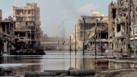 (Archivbild). Aufnahme von Sirte vom 18. Oktober 2011.