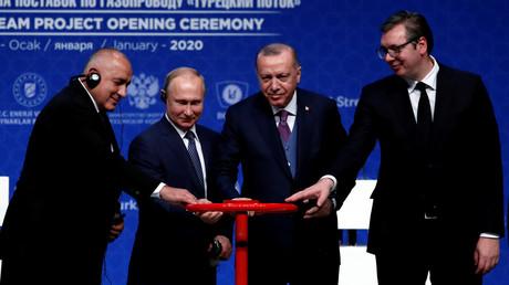 Turkish Stream in Betrieb: Wladimir Putin und Recep Tayyip Erdoğan weihen Gaspipeline ein