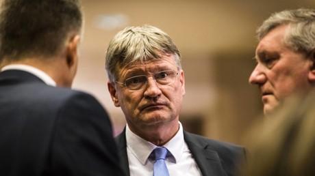 Jörg Meuthen war der erste aber nicht der einzige AfD-Politiker, der von verdeckter Wahlhilfe profitiert hat, die wohl von der Schweizer Goal AG stammte. Bild: Neujahrsempfang der AfD in Münster im Jahr 2019.