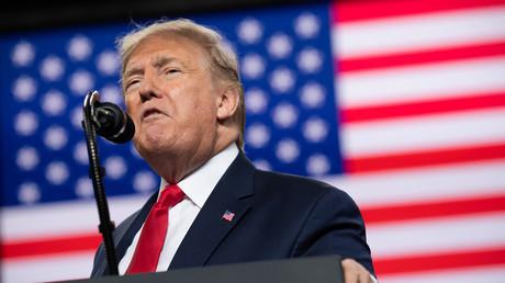 Trump bei einer Rede in Ohio am Donnerstag