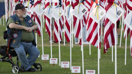 Ein Veteran des Vietnamkriegs bei der Eröffnungszeremonie für den