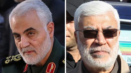 Qassem Soleimani (l.) und Abu Mahdi al-Muhandis (r.) gehörten zu den stärkten Widersachern des IS im Irak und in Syrien. Ihre Ermordung durch die USA wird nun vom IS begrüßt.
