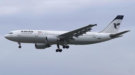 Eine Maschine des Typs Airbus A300, die beim Flug 655 der Iran Air am 3. Juli 1988 von einer Rakete der USS Vincennes getroffen wurde
