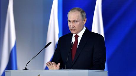 Der russische Präsident Wladimir Putin während seiner Jahresansprache in Moskau, Russland 15. Januar 2020.