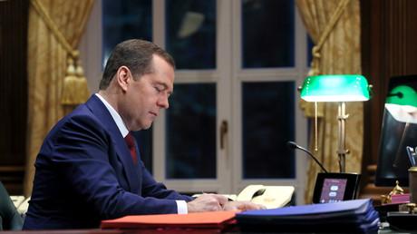 Archivbild: Russischer Premierminister Dmitri Medwedew in Moskau