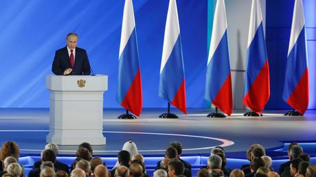 Der russische Präsident Wladimir Putin während seiner Rede in Moskau, Russland 15. Januar 2020.
