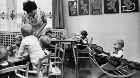 Ein Kindergarten in Magdeburg, 1965.