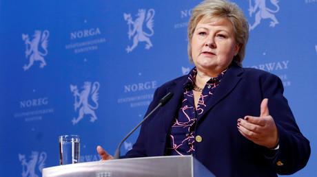 Erna Solberg, hier bei einer Pressekonferenz am 20.01.2020 in Oslo, ist seit 2013 norwegische Ministerpräsidentin.