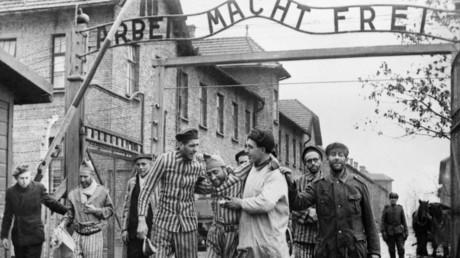 Das Konzentrationslager Auschwitz nach der Befreiung durch die Rote Armee am 27. Januar 1945