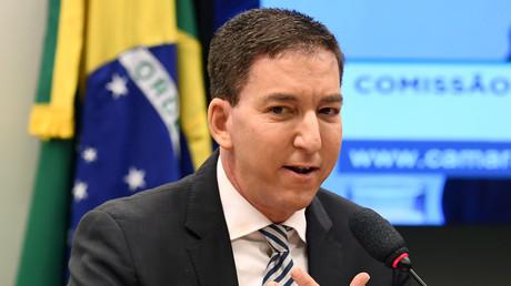Der US-Journalist Glenn Greenwald während einer Anhörung der Menschenrechtskommission im Unterhaus des brasilianischen Parlaments am 25.06.19.
