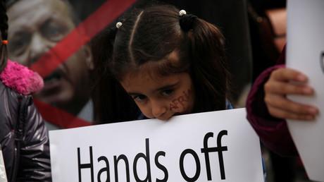 Symbolbild: Kurdenproteste, Zypern, 24. Januar 2018.