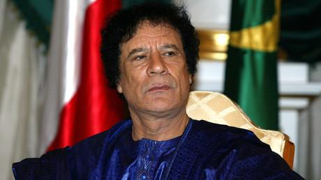 Er warnte vor den Konsequenzen einer militärischen Intervention in seinem Land: Libyens ehemaliger Machthaber Muammar al-Gaddafi.