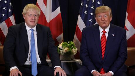 Der britische Premierminister Boris Johnson und US-Präsident Donald Trump in New York, USA, 24. September 2019