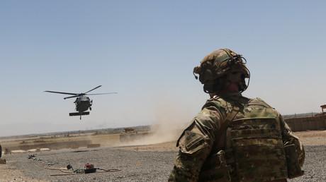 Ein US-Hubschrauber UH-60 Black Hawk beim Landeanflug in Afghanistan, 4. August 2019.