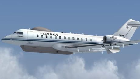 Aufnahme des US-Spionageflugzeugs Bombardier E-11A.