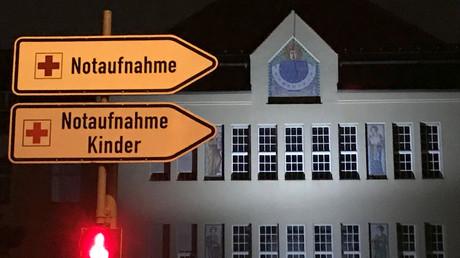 Das Schild der Notaufnahme am Klinikum Schwabing.