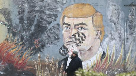 Anti-Trump-Bild, Gaza-Stadt, 28. Januar 2020.