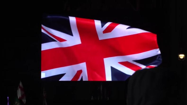 Brexit-Anhänger feiern den Austritt Großbritanniens aus der EU