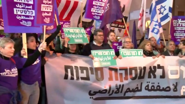 "Israel: Demonstration in Tel Aviv gegen ""Deal des Jahrhunderts"""