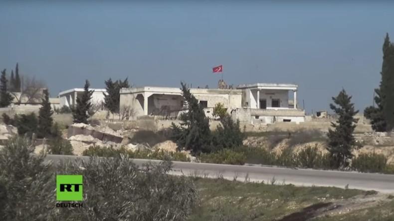 Syrisch-Arabische Armee riegelt türkischen Beobachtungsposten in Idlib ab