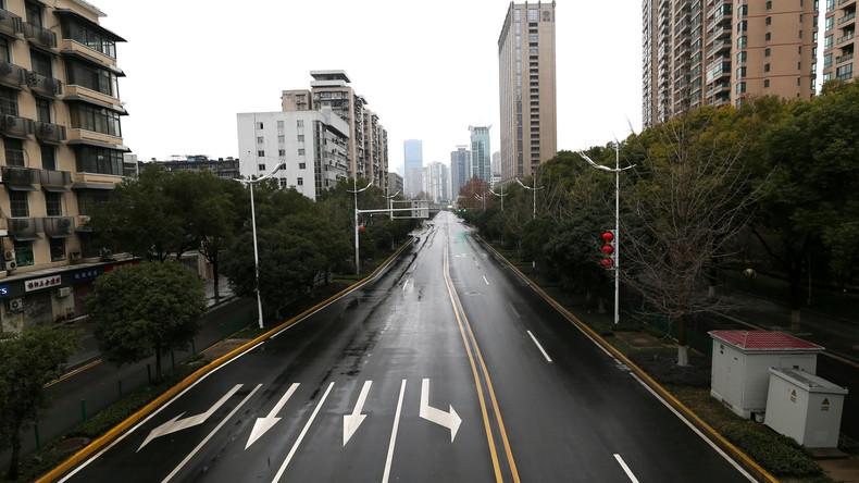 Coronavirus-Ausbruch: Menschenleere Straßen in Wuhan
