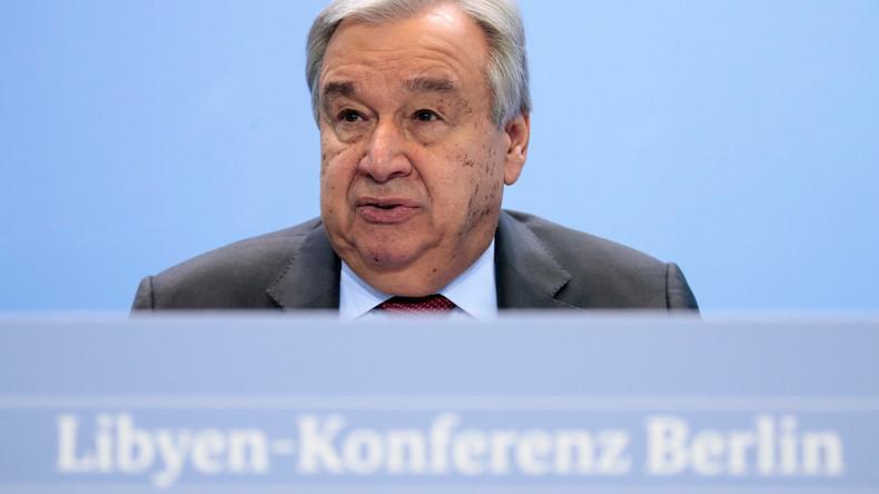 """Enttäuschende Bilanz: UN-Chef bezeichnet Entwicklung in Libyen nach Berliner Konferenz als """"Skandal"""""""