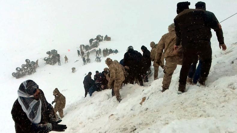 Lawinenabgänge in der Türkei fordern mindestens 38 Menschenleben – Vermisstenanzahl unklar
