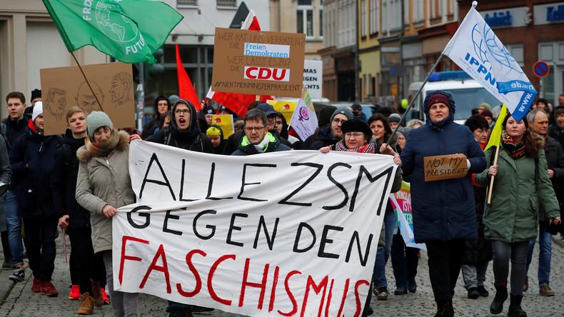 Nach Thüringen-Eklat – Aktivisten demonstrieren gegen AfD-Neujahrsempfang in Münster (Video)