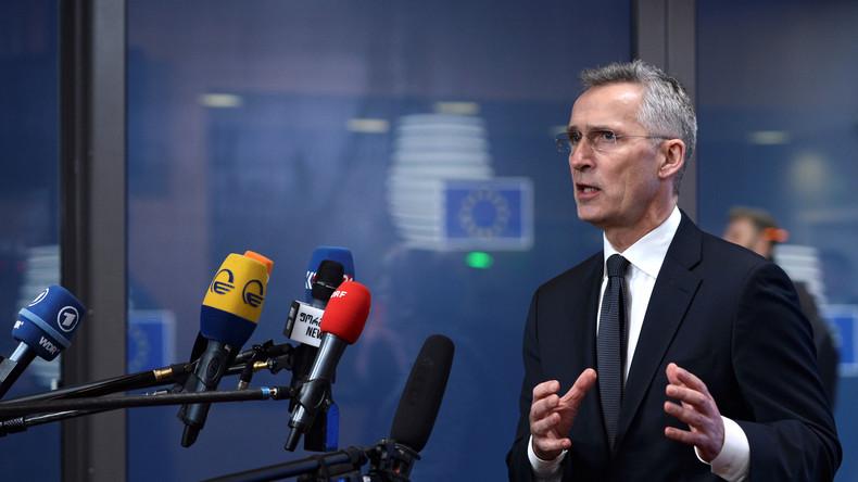 LIVE: Pressekonferenz von NATO-Generalsekretär Jens Stoltenberg vor Beginn des NATO-Treffens